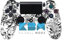 Custom White Digital Camo PS4 Controller