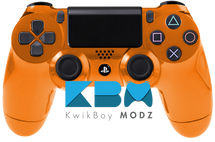 Custom Orange Chrome PS4 Controller