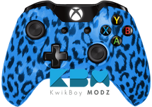 Custom Blue Cheetah Xbox One Controller