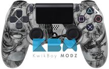 Custom Silver Mr.Creepy PS4 Controller
