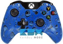 Custom Blue Rain Xbox One Controller