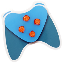 Orange Xbox One ABXY Buttons with Letters