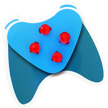 Red Xbox One ABXY Buttons with Letters