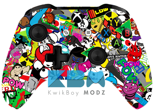 Custom Sticker Vandal Xbox One S Controller