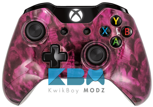 Custom Pink Reaper Skulls Xbox One Controller