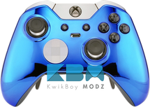 Custom Blue Chrome Elite Controller