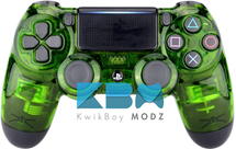 Clear Green PS4 Controller