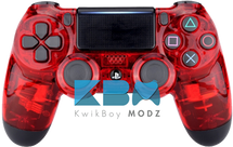 Clear Red PS4 Controller