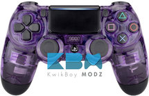 Custom Clear Purple PS4 Controller