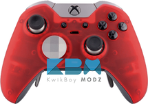 Clear Red Elite Controller