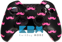 Pink Mustache Xbox One Controller Shell