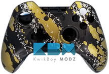 Gold Splatter Xbox One Controller Shell