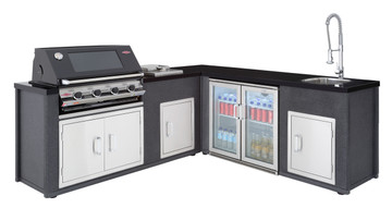 Beefeater Artisan 3000E L-Shaped Outdoor Kitchen 79900 79950 77300