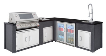 Beefeater Artisan 3000S L-Shaped Outdoor Kitchen 79910 79950 77300