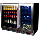 Beer And Wine Bar Fridge With Multi Zones And Interchangeable Shelves