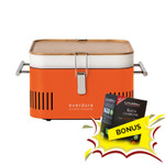 Everdure Cube Charcoal Portable BBQ -HBCUBEO (Orange) +  1kg Beech Charcoal