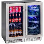 Schmick 2 Zone Matching Combination 200 Litre - Beer and Wine Glass Door Bar Fridge YC100-COMBO