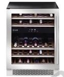 ILVE ILWD37XL 37 Bottle Dual Zone Wine Cabinet Left Hinge SS