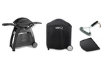 WEBER FAMILY Q3100 BLACK 56017224 NG BBQ PACKAGE