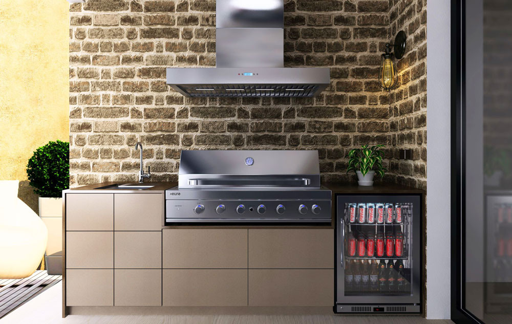 Euro Outdoor Kitchen Amici Hooded Bbq The Bbq Store
