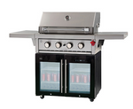 Gasmate BFM 4 Burner BBQ & Fridge LPG