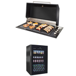 Bundle -  ARTUSI  BBQ Jet Black - Hood - ABBQ1B-ABHOOD - ARTUSI OUTDOOR BAR FRIDGE - SINGLE DOOR ABC1B (KITCHEN FOR DISPLAY PURPOSES ONLY)