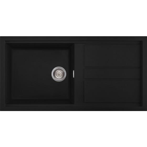 Artusi Black Granitek Series Single Sink - The BBQ Store