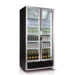Husky 795L Vertical Glass Door Fridge (Black) (Optional light box available)
