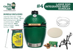 Big Green Egg Large Egg + Integrated Nest + Handler Bundle