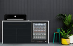 Artusi Black Kitchen BBQ + Euro 1 Door Fridge