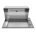 Tucker Horizon Marine Grade BBQ Built In with Slimline Hood open hood