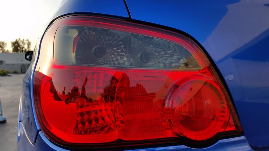 2004 2005 Wrx Sti Impreza Tail Light Overlays Smoke