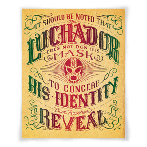 """Luchador text split fountain"" print"