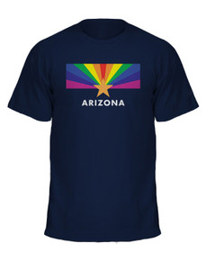 Unisex Arizona LGBT Pride Flag T-shirt - navy