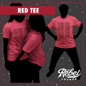 Womens Heather Red Cracked/Repetition The Rebel Lounge Shirt