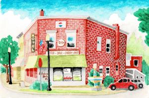 Edinboro Hotel Watercolor Print