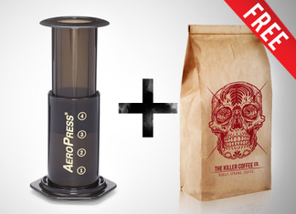 Aeropress kit with FREE Killer Coffee