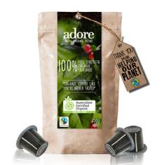 Adore 100% Organic Nespresso compatible capsules (20 Pack)