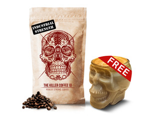 Killer coffee + FREE 150ml Skull Glass