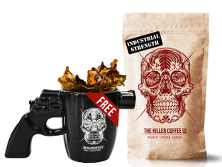 Killer Coffee +  Free Gun mug - Free shipping