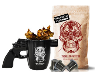 Killer Coffee Gun Mug Pack  (Nespresso compatible Capsules) - FREE shipping