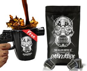 100 Darkerside Nespresso Compatible* Capsules + Free Gun Mug