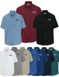 Mens Tall Easy Care Short Sleeve Poplin