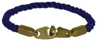 Brass Bails & Clasp, BLU Rope Single Large