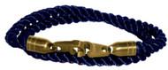 Brass Bails & Clasp, BLU Rope DBL Med