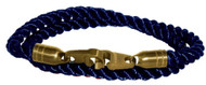 Brass Bails & Clasp, BLU Rope DBL Large