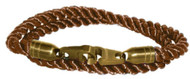 Brass Bails & Clasp, BRN Rope DBL Large