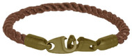 Brass Bails & Clasp, BRN Rope Single Large