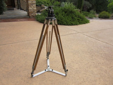 NICE Heavy Duty Wood Tripod, Tripod Head, and Spreader for 16mm Movie Camera
