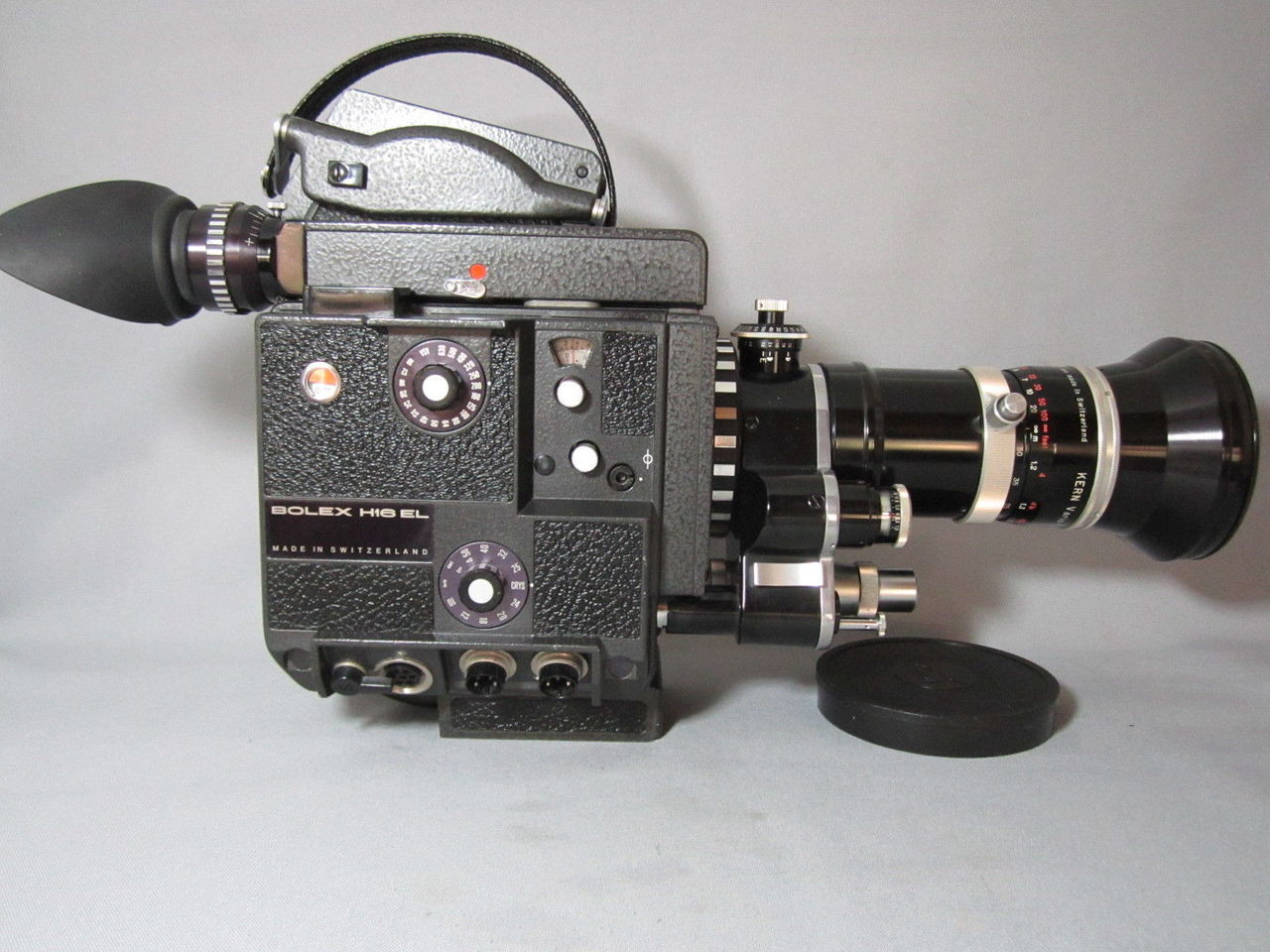 PRISTINE! Bolex EL 16mm Movie Camera with 13x Viewer + Kern